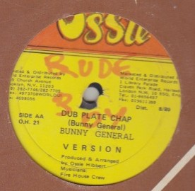 Bunny General / Ricky Stereo - Dub Plate Chop / Have To Fly Out