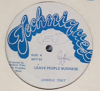 Admiral Tibbet - Leave People Business