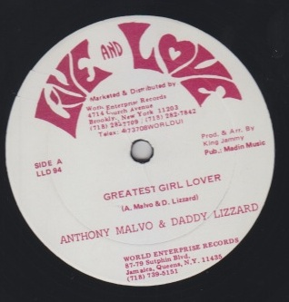 Anthony Malvo & Daddy Lizard - Greatest Girl Lover
