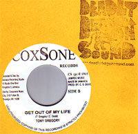 Tony Gregory / Tony Gregory & Marcia - Get Out Of My Life / Baby Come On Home