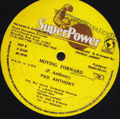 Pad Anthony - Moving Forward / Cooling Runnings