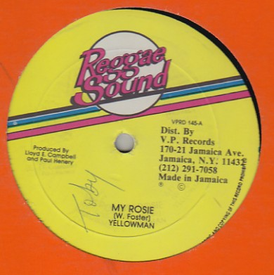 Yellow Man / Ronnie Davis - My Rosie / Want To Be Love
