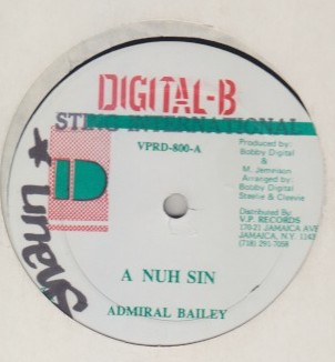 Admiral Bailey - A No Sin