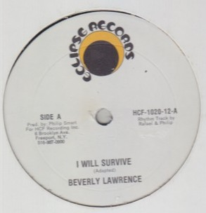 Beverly Lawrence - I Will Survive / I Love You Jerry