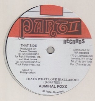 Admiral Foxx - Thats What Love Is All About