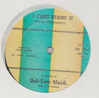 Dave Robinson / Junior Delgado - I Cant Stand It / Give Me Your Love