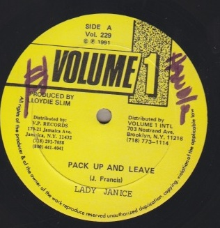 Lady Janice - Pack Up and Leave