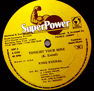 King Everald - Tonight Your Mine / If You Want Good
