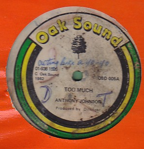 Anthony Johnson / Welton Irie - Too Much / How You Keep A Dance